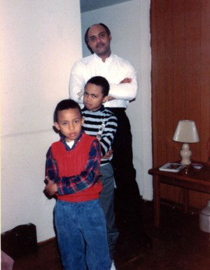 Bottom to Top: me, my older brother and my father